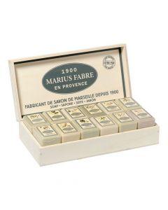 Coffret de 23 Savons Parfumés 150g Marius Fabre