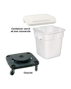 Container Carré 150L + Couvercle