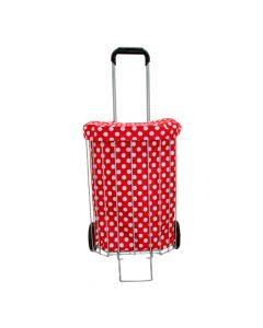 Poussette de Marché Cage Rouge à Pois Sidebag