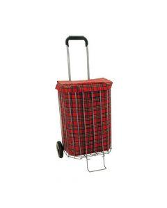 Poussette de Marché Ecossaise Rouge Sidebag