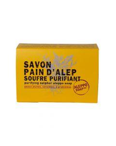 Savon Pain d'Alep Soufre Purifiant 150g Aleppo Soap