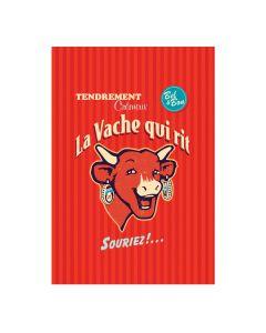Torchon La Vache Qui Rit Rétro Rouge Coucke