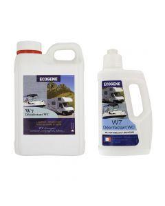 W7 Désinfectant WC Portable & Broyeur Ecogene