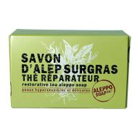 Savon d'Alep Surgras au Thé Réparateur 150g Aleppo Soap