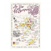 Torchon Carte de la Champagne Torchons & Bouchons