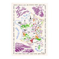 Torchon Carte des Vins de France Torchons & Bouchons